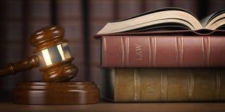 Δικαιοσύνη, νόμος και νομική έννοια gavel βιβλίων νόμος δικαστών διανυσματική απεικόνιση