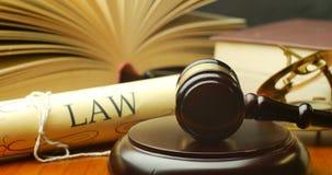 Δικαιοσύνη στο δοκιμαστικό δικαστήριο για να επιδιώξει σύστημα νόμου απόφασης αλήθειας το στο δικαστήριο νομικό απόθεμα βίντεο