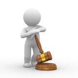 δικαιοσύνη σφυριών απεικόνιση αποθεμάτων