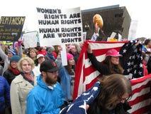 Δικαιώματα γυναικών ` s στις γυναίκες ` s Μάρτιος Στοκ φωτογραφία με δικαίωμα ελεύθερης χρήσης