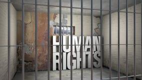 Δικαιώματα που διακυβεύονται τα ανθρώπινα Στοκ εικόνες με δικαίωμα ελεύθερης χρήσης