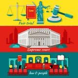 Δικαστήριο και δικαιοσύνη έννοιας ανώτατο απεικόνιση αποθεμάτων