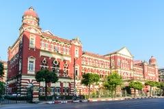 Δικαστήριο περιοχών Yangon, το Μιανμάρ Αρχαίο αποικιακό κτήριο FEB-2018 στοκ φωτογραφία με δικαίωμα ελεύθερης χρήσης