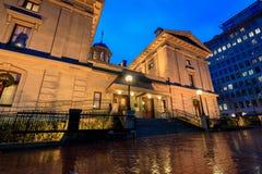 Δικαστήριο πρωτοπόρων στο τετράγωνο πρωτοπόρων στη βροχερή ημέρα Στοκ φωτογραφίες με δικαίωμα ελεύθερης χρήσης