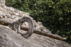 Δικαστήριο Ballgame επί του αρχαιολογικού τόπου Coba, Μεξικό Στοκ Φωτογραφίες