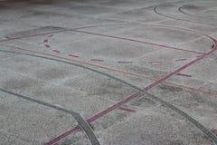 Δικαστήριο Multisport με το χυμένο πεζοδρόμιο Στοκ Εικόνες