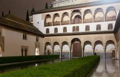 Δικαστήριο Myrtles (Patio de Los Arrayanes), Alhambra Στοκ εικόνες με δικαίωμα ελεύθερης χρήσης