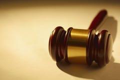 Δικαστής ή ξύλινο gavel auctioneers Στοκ Εικόνα