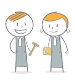 Δικαστής και δικηγόρος απεικόνιση αποθεμάτων