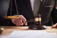 Δικαστής με gavel Στοκ Εικόνα