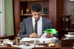 Δικηγόρος ή bankar ή εργασία επιχειρηματιών στην αρχή Στοκ Εικόνες