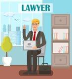 Δικηγόρος, επίπεδο διανυσματικό πρότυπο εμβλημάτων νομικών συμβούλων ελεύθερη απεικόνιση δικαιώματος
