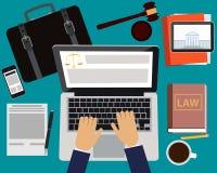 Δικηγόρος εργασιακών χώρων διανυσματική απεικόνιση