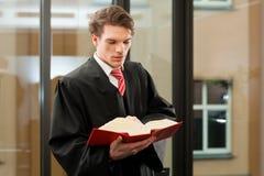 Δικηγόρος με τον κώδικα αστικού δικαίου Στοκ εικόνα με δικαίωμα ελεύθερης χρήσης
