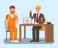Δικηγόρος που μιλά στην επίπεδη διανυσματική απεικόνιση πελατών απεικόνιση αποθεμάτων