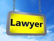 Δικηγόρος στον πίνακα διαφημίσεων διανυσματική απεικόνιση