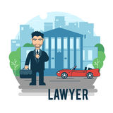 Δικηγόρος στο δικαστήριο απεικόνιση αποθεμάτων