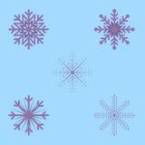 Δικτυωτά εορταστικά snowflakes Χριστουγέννων μέσα διανυσματική απεικόνιση