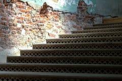 Δικτυωτά σκαλοπάτια χυτοσιδήρων Στοκ Εικόνες