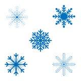 Δικτυωτά snowflakes Χριστουγέννων με το διανυσματικό σχήμα ελεύθερη απεικόνιση δικαιώματος