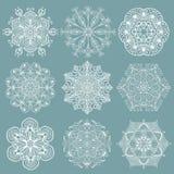 Δικτυωτά snowflakes Στοκ Εικόνες