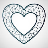 Δικτυωτή καρδιά Τέμνον πρότυπο λέιζερ διανυσματική απεικόνιση