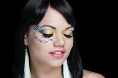 Δικτυωτή μάσκα κοριτσιών makeup στοκ φωτογραφίες με δικαίωμα ελεύθερης χρήσης