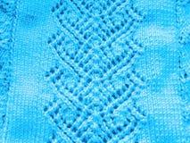 Δικτυωτό σχέδιο με το πλέξιμο των βελόνων Στοκ εικόνα με δικαίωμα ελεύθερης χρήσης