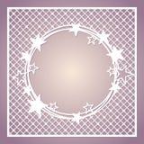 Δικτυωτό τετραγωνικό πλαίσιο με το στεφάνι των αστεριών Στοκ εικόνες με δικαίωμα ελεύθερης χρήσης