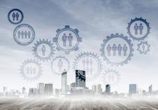 Δικτύωση και κοινωνική επικοινωνία ως μέσα για την αποτελεσματική επιχειρησιακή στρατηγική στοκ εικόνες