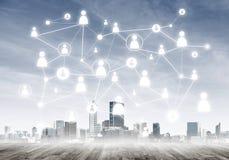 Δικτύωση και κοινωνική επικοινωνία ως μέσα για την αποτελεσματική επιχειρησιακή στρατηγική στοκ εικόνες με δικαίωμα ελεύθερης χρήσης