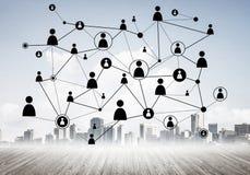 Δικτύωση και κοινωνική επικοινωνία ως μέσα για το αποτελεσματικό busin στοκ φωτογραφίες με δικαίωμα ελεύθερης χρήσης