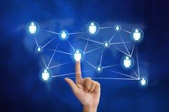 Δικτύωση οργάνωσης ώθησης χεριών Στοκ εικόνες με δικαίωμα ελεύθερης χρήσης