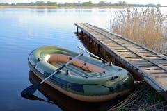 Διογκώσιμη βάρκα Στοκ Εικόνες