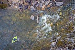 Διογκώσιμη εναέρια άποψη καγιάκ whitewater στοκ φωτογραφία με δικαίωμα ελεύθερης χρήσης