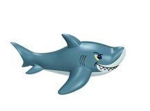 Διογκώσιμος καρχαρίας με το ψαλίδισμα της πορείας διανυσματική απεικόνιση