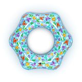 Διογκώσιμος κολυμπώντας κύκλος που απομονώνεται άσπρο σε τρισδιάστατο διανυσματική απεικόνιση