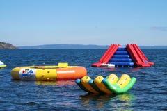 Διογκώσιμο aquapark Στοκ εικόνες με δικαίωμα ελεύθερης χρήσης
