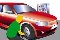 διογκώστε τα ελαστικά αυτοκινήτου Στοκ εικόνες με δικαίωμα ελεύθερης χρήσης