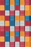Διοικητικές μέριμνες εμπορευματοκιβωτίων και υπόβαθρο σχεδίων μεταφορών Vecto απεικόνιση αποθεμάτων