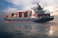 Διοικητικές μέριμνες και μεταφορά του φορτίου εμπορευματοκιβωτίων Στοκ Εικόνα