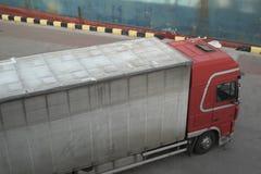 Διοικητικές μέριμνες μεταφορών και μεταφορά εμπορευμάτων, μεταφορά με φορτηγό Στοκ Εικόνες