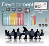 Διοικητική έννοια βελτίωσης ανάπτυξης οικονομική Στοκ φωτογραφία με δικαίωμα ελεύθερης χρήσης