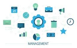 Διοικητική έννοια Ιδέα της επιχειρησιακής εργασίας με τους ανθρώπους διανυσματική απεικόνιση