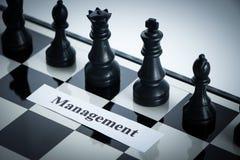Διοικητική έννοια σκακιού Στοκ Εικόνα