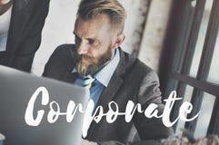 Διοικητική έννοια Corporate Business Company οργάνωσης Στοκ φωτογραφία με δικαίωμα ελεύθερης χρήσης