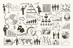 Διοικητική διαδικασία σκίτσων διανυσματική απεικόνιση