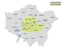 Διοικητικός και πολιτικός χάρτης του εσωτερικού Λονδίνου, νομικός καθορισμός διανυσματική απεικόνιση