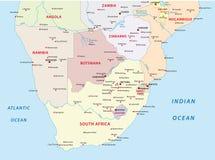 Διοικητικός χάρτης των καταστάσεων του Νοτίου Αφρική Στοκ Εικόνες