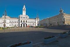 Διοικητικό παλάτι από Arad, Ρουμανία οικοδόμηση της περίστυλης αίθουσας Ουγγαρία πόλεων Στοκ Εικόνες